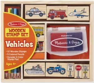 Melissa & Doug Vehicles Wooden Stamp Set Only $7.24!