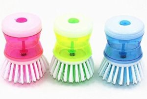 Set of 3 Soap Dispensing Dish Scrubbers Only $3.60 + FREE Shipping! Best Price!