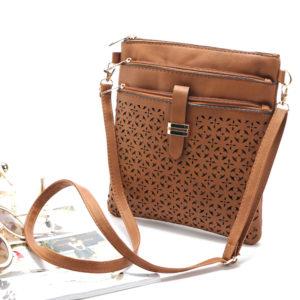 Three-Zip Cross-Body Handbag $14.99 + FREE Shipping! (was $49.99)