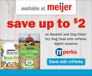 Save on Purina Dog Chow and Beneful Dog Food at Meijer with MPerks!