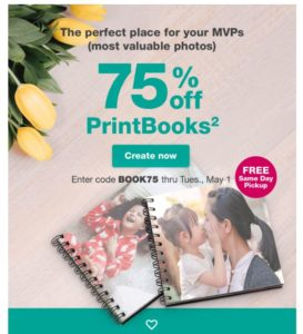 Walgreens: Photo PrintBook Only $1.75 + FREE Store Pick Up!