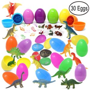 30 Prefilled Easter Eggs with Dinosaur Figures, Tattoos, and Stamps Only $14.95!