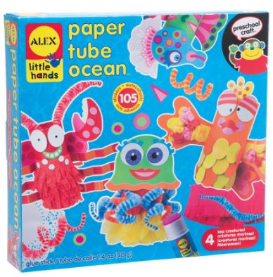 ALEX Toys Little Hands Paper Tube Ocean Craft Kit