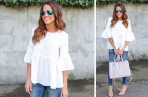 Flare Sleeve Lace Shirt Only $20.98 Shipped! (was $38)