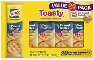 Lance Toasty Peanut Butter Sandwich Crackers 20-Count Only $5.78!