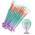 Set of 11 Mermaid Tail Makeup Brushes Only $7.99!