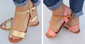 Stylish Color Block Sandals Only $12.99! (was $29.99)