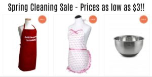 Flirty Aprons Spring Cleaning Sale! Prices start at $3!
