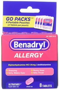 FREE Benadryl Allergy Ultratabs Tablets, Go Packs, 8 Count after Credit!