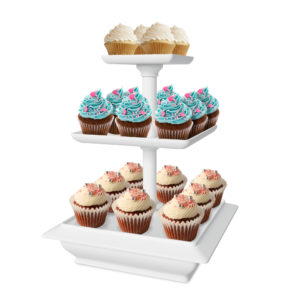 3 Tier Cupcake Dessert Stand Tray Only $8.64!