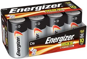 Energizer D Cell Batteries, Max Alkaline (8 Count) as low as $4.68 Shipped!