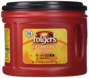 Folgers Breakfast Blend Ground Coffee 25.4oz Only $3.57!