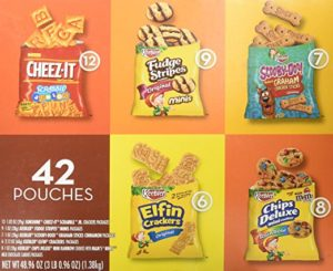 Keebler Cookies and Cheez-It Crackers Snack Packs Variety Pack, 42 Count as low as $8.97 Shipped ($0.21/bag)! Best Price!