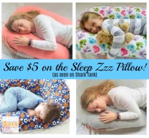 Save $5 on the Sleep Zzz Pillow! As Seen on Shark Tank!