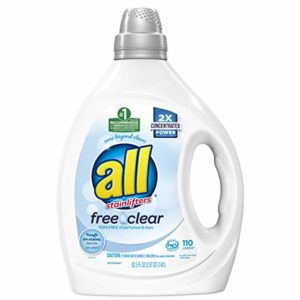 all Liquid Laundry Detergent, Free Clear for Sensitive Skin, 110 Loads as low as $9.74 Shipped!