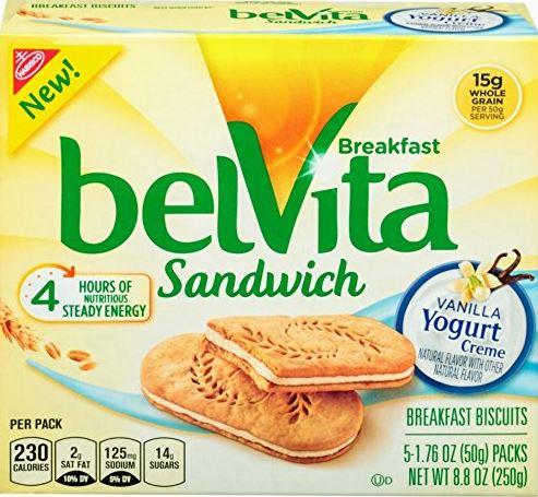 belVita Vanilla Yogurt Creme Breakfast Biscuit Sandwiches