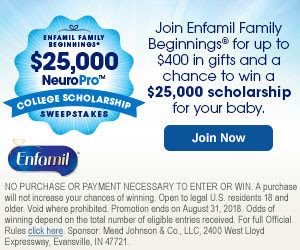 FREE Enfamil Family Beginnings – Up to $400 in Free Gifts!