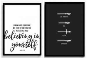 Movie Inspired Prints (Star Wars, Harry Potter and More) Only $3.99!