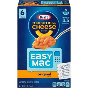 Pack of 6 Kraft Easy Mac Pouches Only $2.98! Best Price!