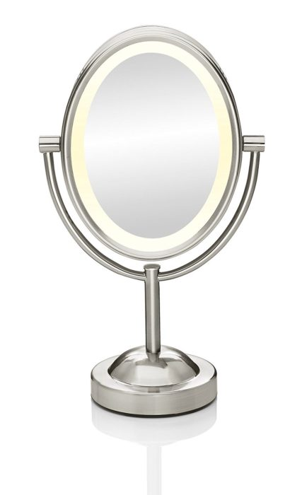 Conair Oval Shaped Double-Sided Lighted Makeup Mirror ...