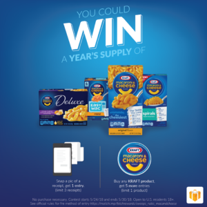 Enter to Win a Year's Supply of Kraft Macaroni & Cheese from Fetch Rewards!