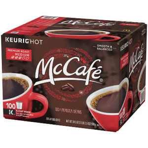 McCafe Premium Roast Coffee K-cups 100ct Only $29.98!