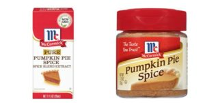 McCormick Pumpkin Pie Spice as low as $0.61!