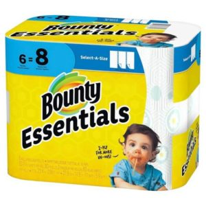 Meijer: Bounty Essentials Paper Towels 6 Big Rolls Only $1.99!