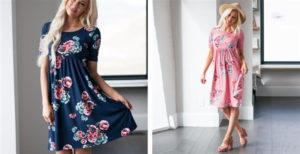 Soft Floral Dress – Was $52.99 – Ships for $29.98!