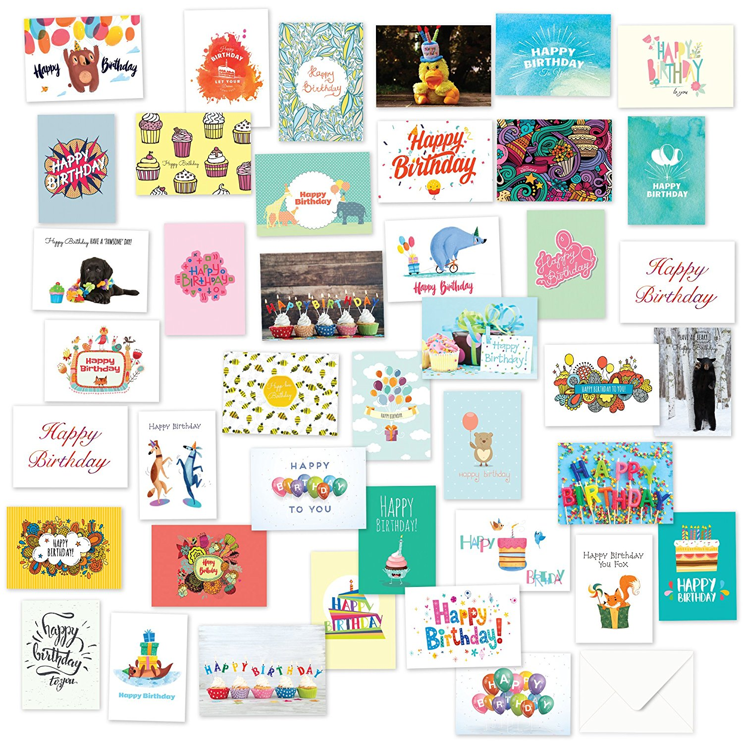 40 assorted birthday cards only 1077  026 each best