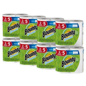 Bounty Quick-Size Paper Towels, 16 Family Rolls, as low as $19.64! ($0.49/reg. roll)
