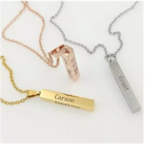 Engraved 4-Sided Bar Necklace – $12.99 Shipped! (was $27.99)