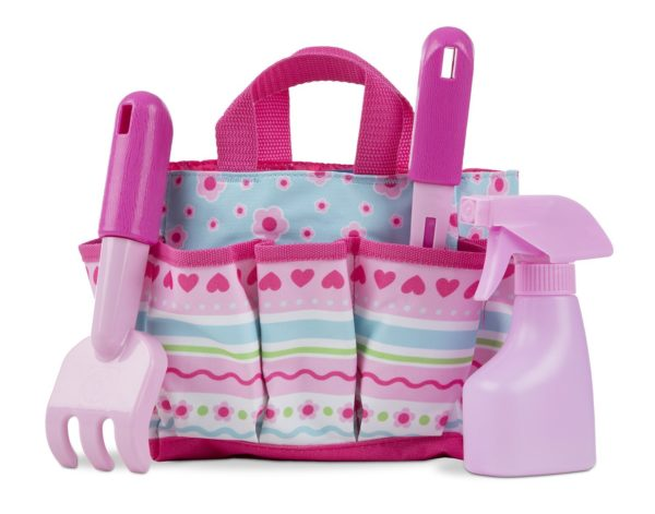 Melissa doug sunny patch gardening tote set with tools for Pretty garden tools set