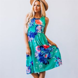 Floral Boho Dress With Pockets Only $14.99!