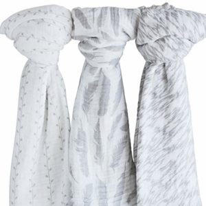 Muslin Swaddle Blanket Classic Grey Combo 3 Pack Only $11.92!!