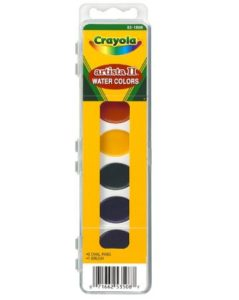 Crayola Artista 8 Semi-Moist Oval Pans Watercolor Set with Brush Only $2.08! Lowest Price!