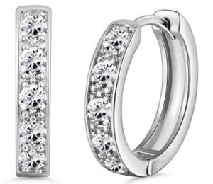 Gorgeous Crystal Hoop Earrings Only $8.39! Best Price!