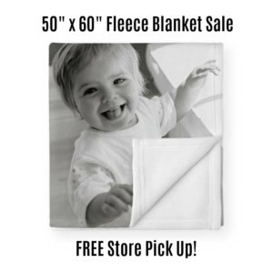50″ x 60″ Fleece Photo Blanket Only $17.50 + Store Pick Up! (reg. $69.99)