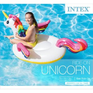 Intex Unicorn Inflatable Ride-On Pool Float – $14.14 – Best Price!