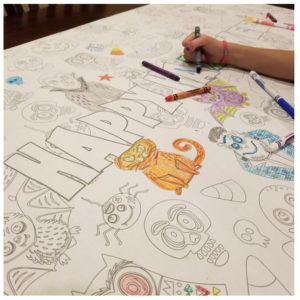 Large Table Top Coloring Banners Under $10 Shipped!