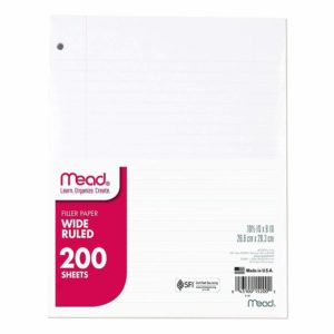 Mead Loose Leaf Paper Wide Rule 200 Sheets Only $3.99!