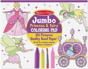 Melissa & Doug Princess & Fairy Jumbo Coloring Pad Only $4.99 (Reg. $17.19)! Best Price!