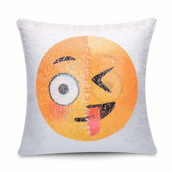 Emoji Throw Pillow Cover