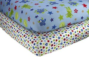 NoJo Monster Babies – 2 Count Crib Sheet Set Only $7.64!