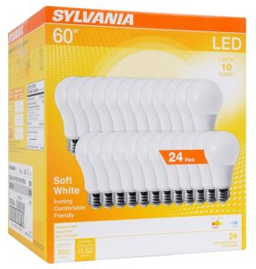 SYLVANIA 60W Equivalent, LED Light Bulb, 24 count Only $27.79!