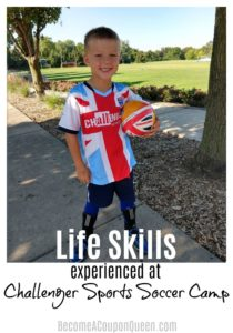 Life Skills Experienced at the Challenger Sports Soccer Camp