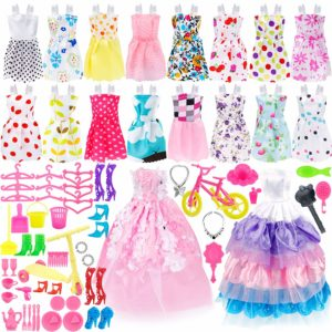 Pack of 73 Barbie Clothes and Accessories Only $11.99! Best Price!