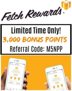Fetch Rewards – New Users Get 3,000 Bonus Points!