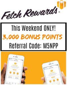 Fetch Rewards – New Users Get 3,000 Bonus Points!