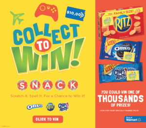 NEW! Nabisco Collect to Win Game at Walmart – You Could Be an Instant Winner!